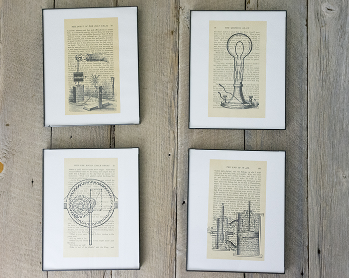 DIY Book Page Art - How To Print On Book Pages