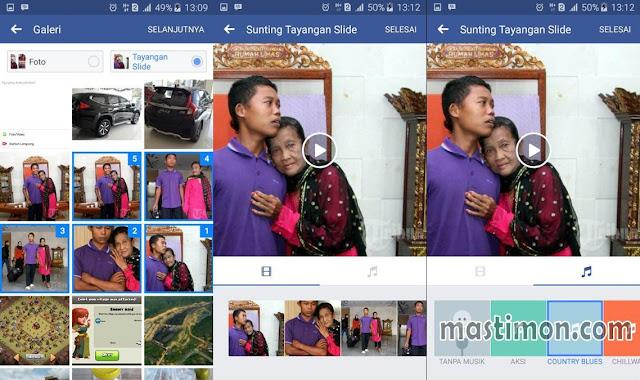 Cara buat Slide vidio dan musik di postingan Facebook dari beberapa gambar