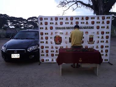 GNB detuvo con 10 kilos de material estratégico a un hombre en Guayabones