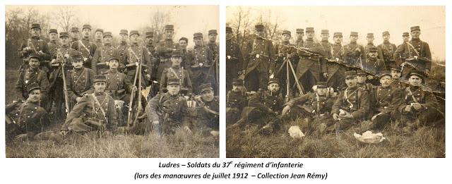 LUDRES (54) - 37e Régiment d'infanterie 1912