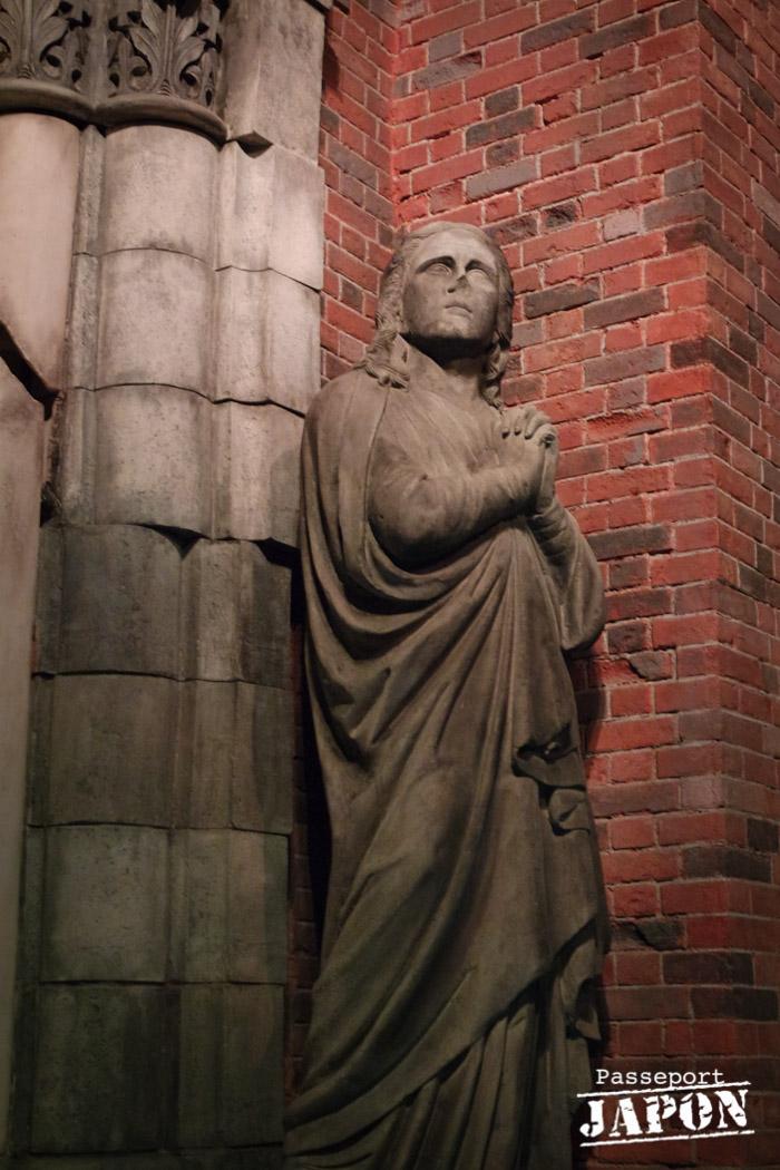 Statue catholique, ancienne cathédrale d'Urakami, musée de la bombe atomique, Nagasaki