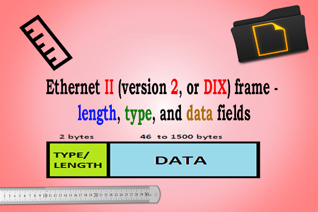 Ethernet II (version 2, or DIX) frame - length, type, and data fields