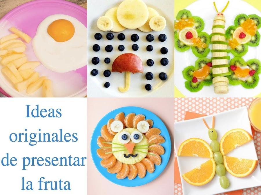 Presenta la fruta en el plato de una manera original