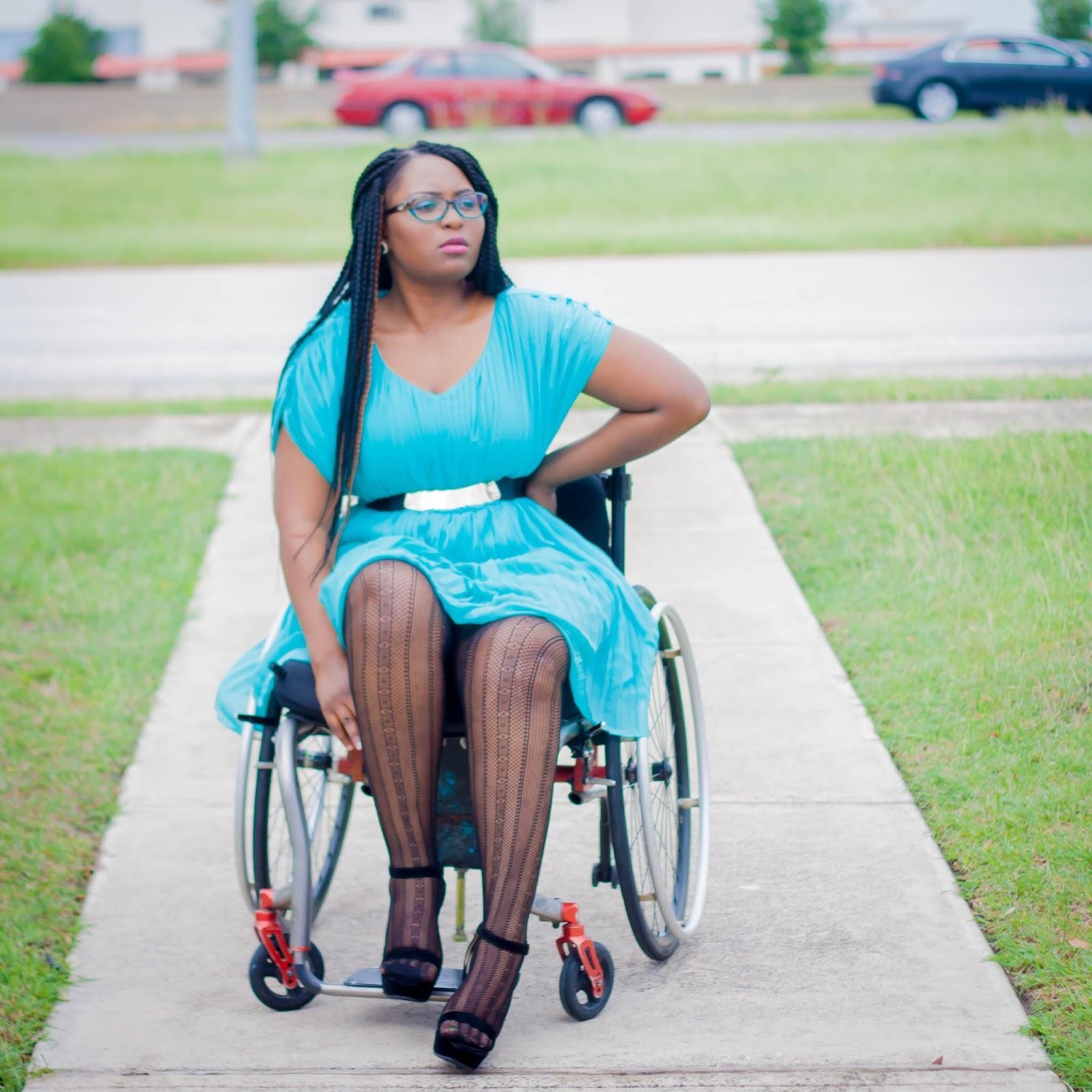 Paraplegic wearing high heels 8