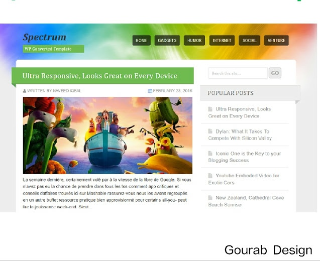 Spectrum mobile friendly blogger template image