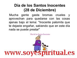 Día Internacional de los SANTOS INOCENTES - 28 de diciembre.