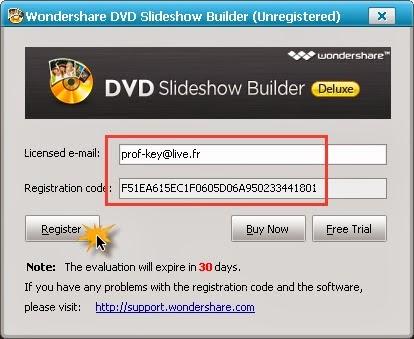 wondershare slideshow registration code