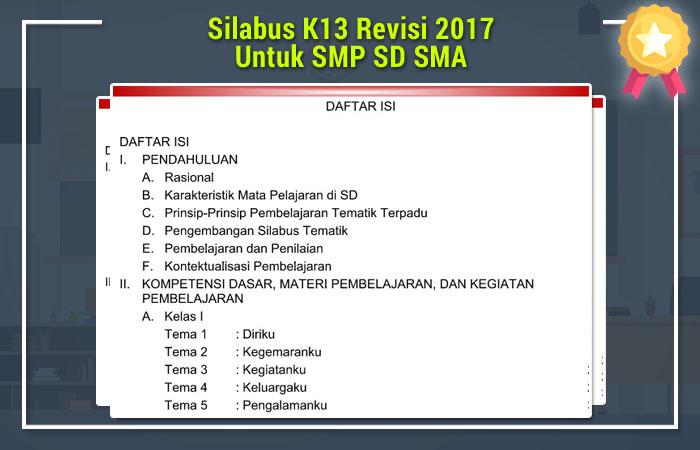 Silabus K13 Revisi 2017 Untuk SMP SD SMA