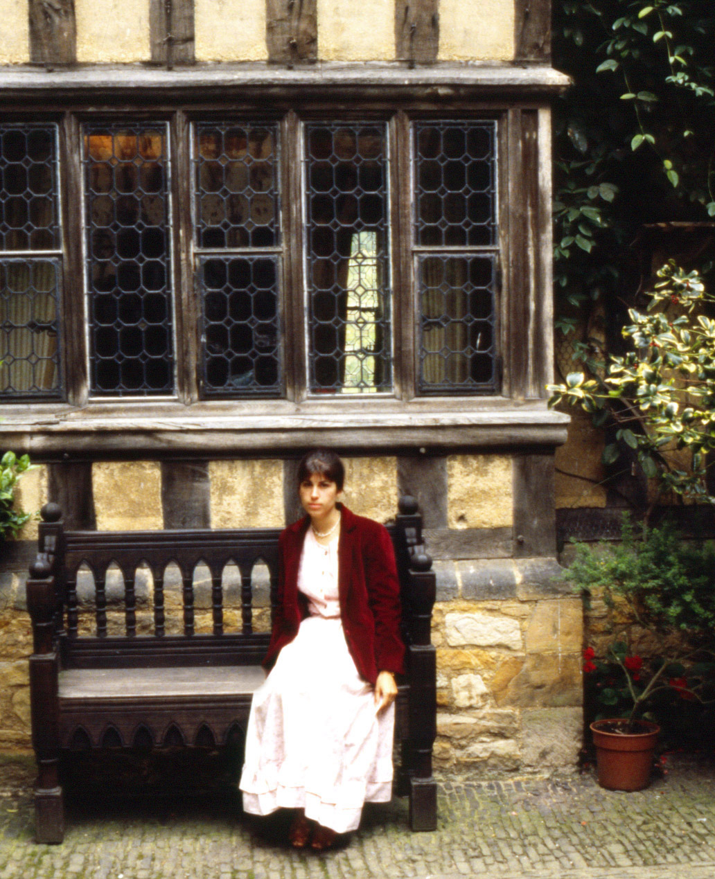 Hastings, England - Courtyard- a tired tourist