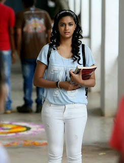 Keerthy Suresh in Blue Color T-Shirt with Cute and Awesome Expressions