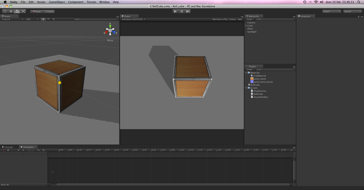 Unity Noobs: Roll a Cube