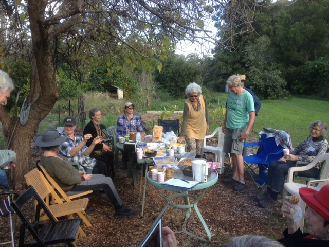 Bellingen Seedsavers take morning tea