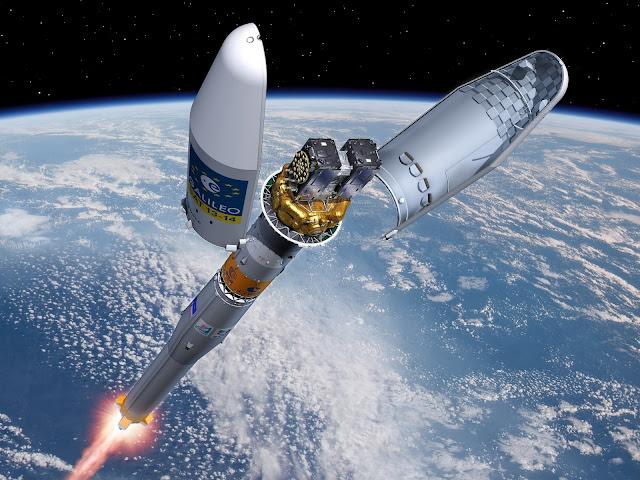 Imagem de como seria o lançamento dos satélites em órbita