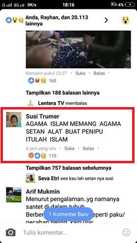 Islam agama setan,.. Aku bangga dicaci maki dengan orang-orang yang tak ku kenal