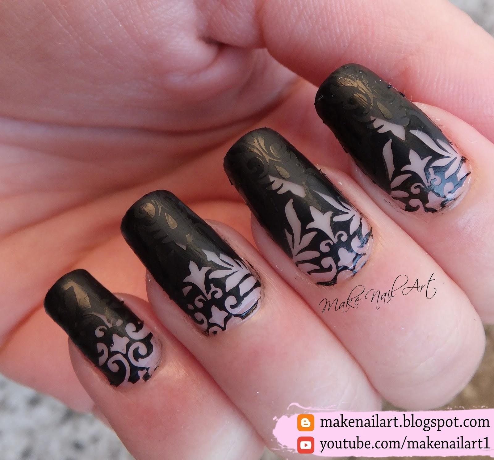 Make Nail Art: Little Black Dress Nail Art Design