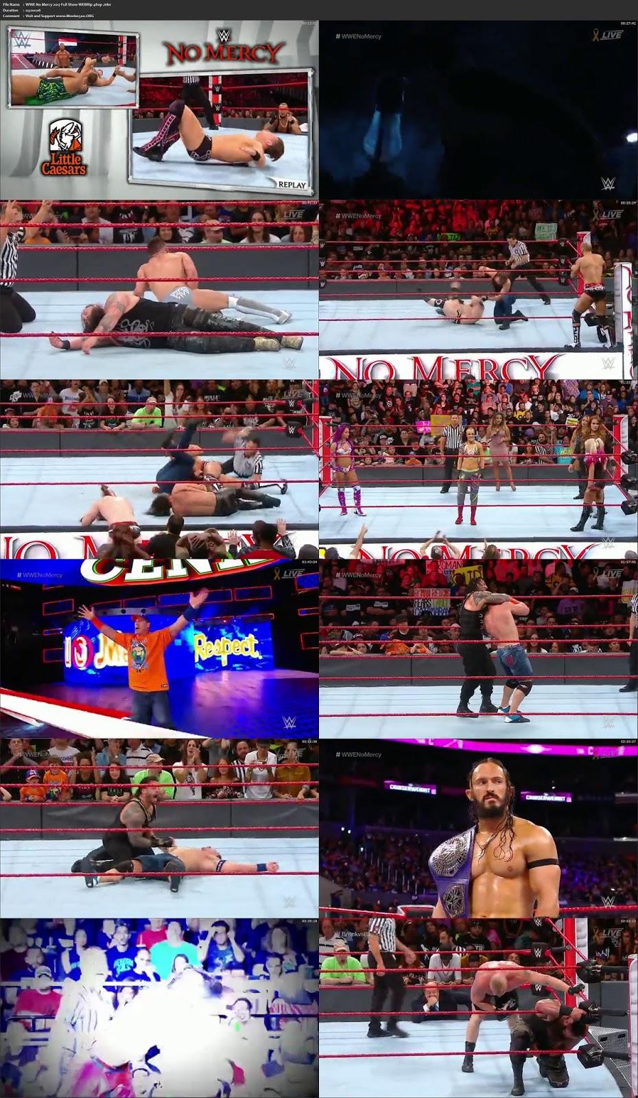 WWE No Mercy 2017 Full Show 700MB WEBRip 720p