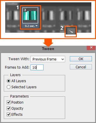 Tween-animation-frames-settings-in-Photoshop