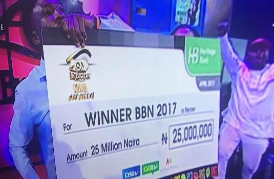 #BBNaijaFinale - Efe wins Big Brother Naija 2017