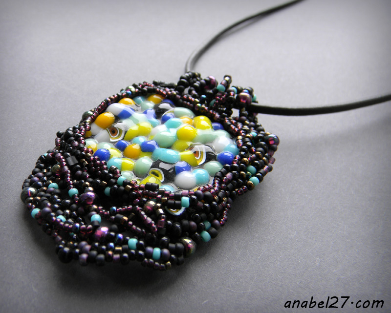 freeform pendant beadwork bohemian anabel beaded jewelry