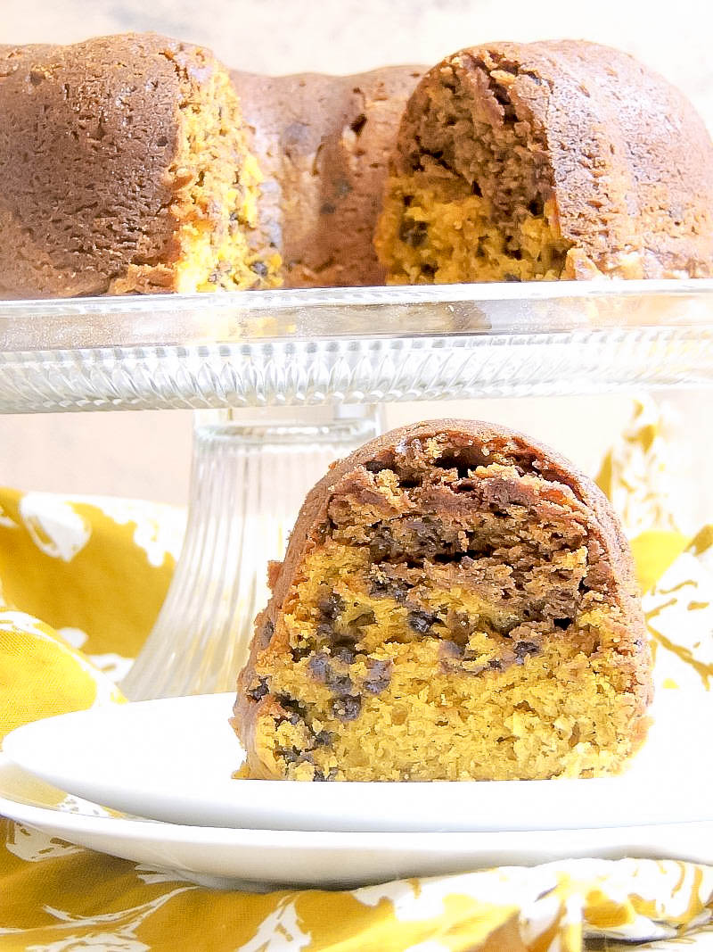 Chocolate Chip Pumpkin Cake from www.bobbiskozykitchen.com