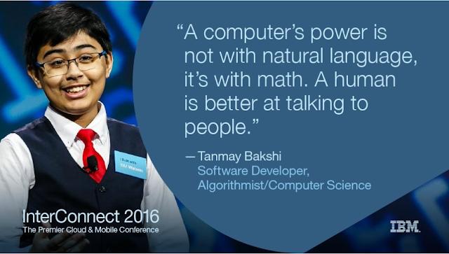 Tanmay Bakshi Anak 12 Tahun IBM Watson Progammer