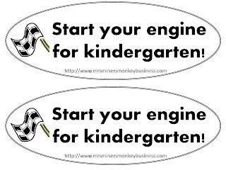 Mrs. Miner's Kindergarten Monkey Business: Open House Gift