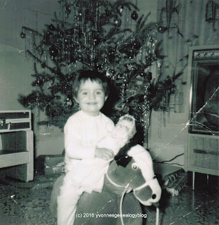 Marianne at Christmas 1962
