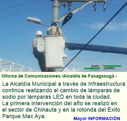 Alumbrado público de fusagasugá con tecnología led.