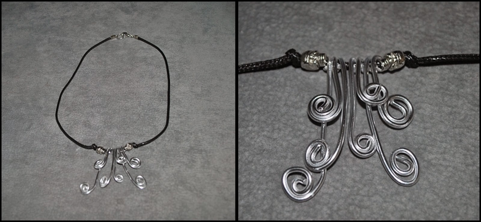 DIY collar de alambre