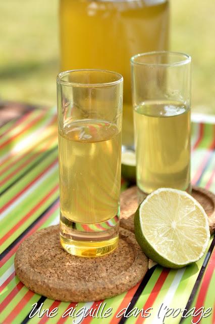 Rhum arrangé citron vert- gingembre recette