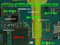 Jalur jumper Touchscreen Samsung J100 GT-I9060I