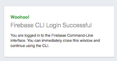 firebase CLI successful access