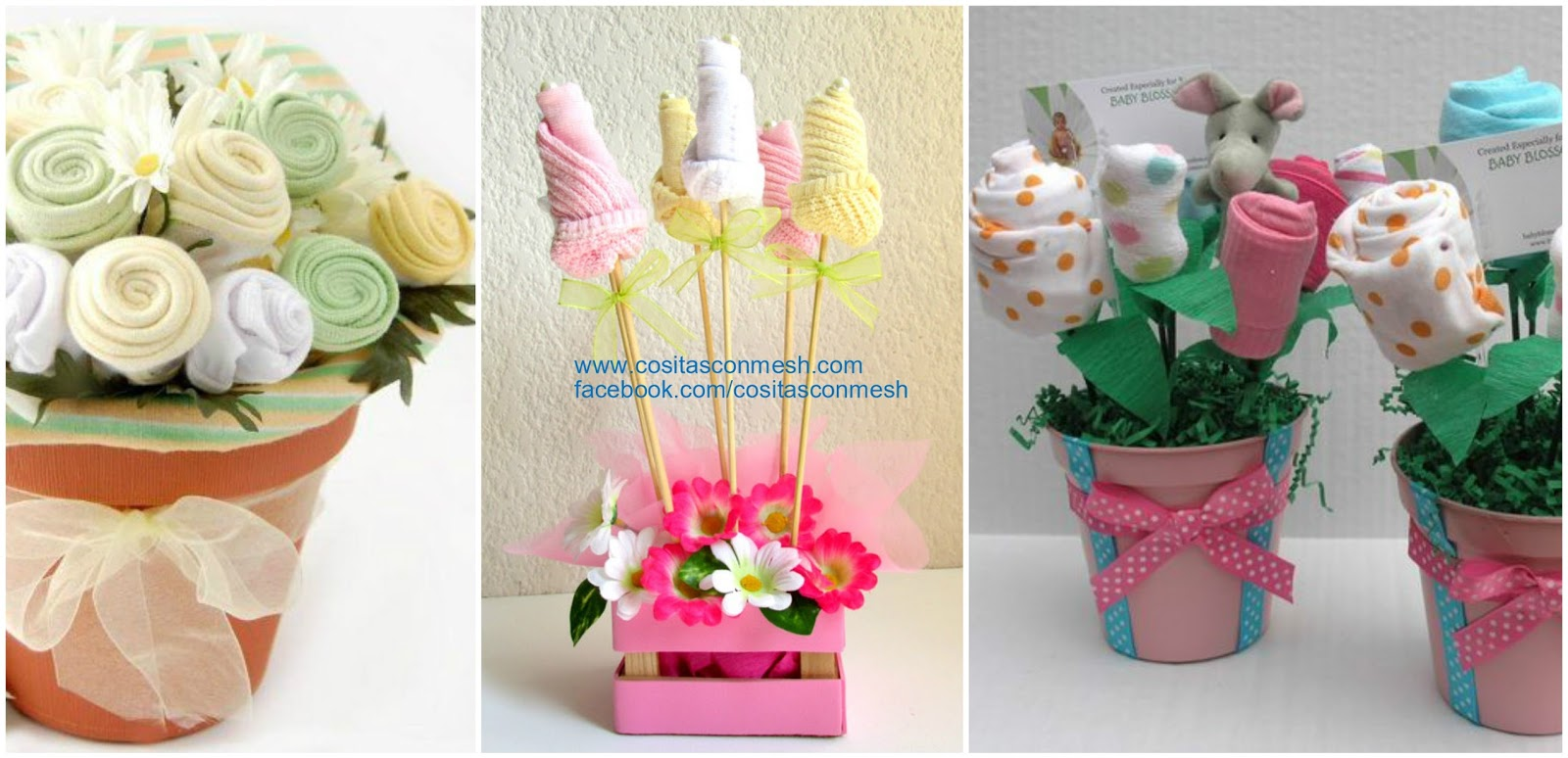 C mo hacer centros de mesa decorativos para baby shower for Centro de mesa baby shower