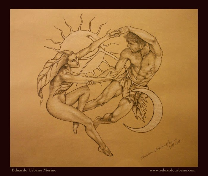 Eduardo Urbano Merino - Sketch for tattoo and painting