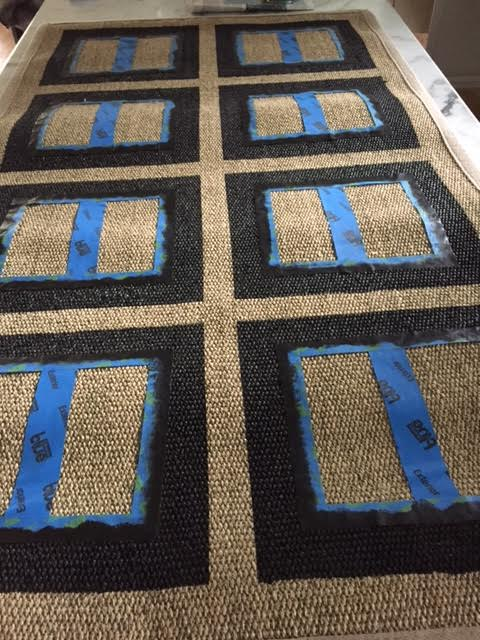 Simple Details: diy stenciled ikea rug