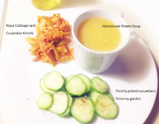 Healthy Fermented foods, cabbage, cucumbers