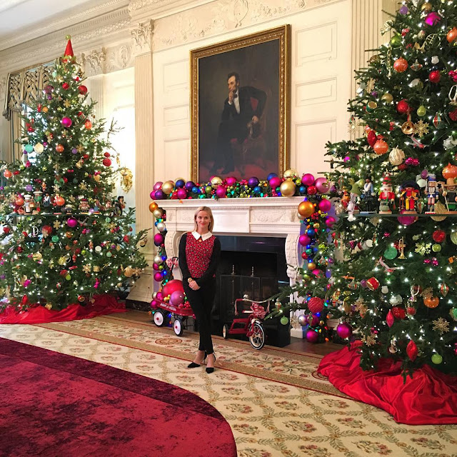 The Best Of Celebrity Christmas Trees @reesewitherspoon @whitehouse - Cool Chic Style Fashion