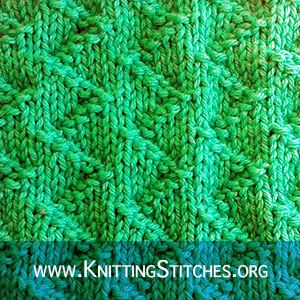 STITCH OF THE MONTH -  July 2018. Basic knit and purl stitches. Zig Zag Textured stitches