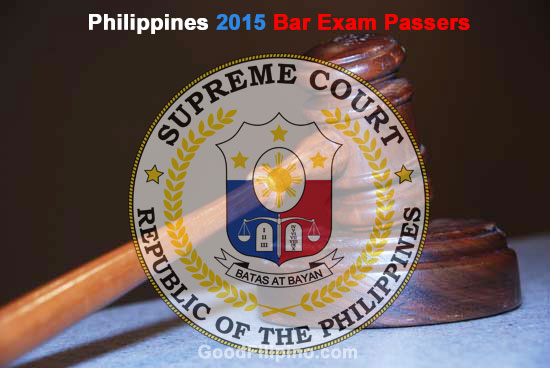 Philippines 2015 Bar Exam Passers