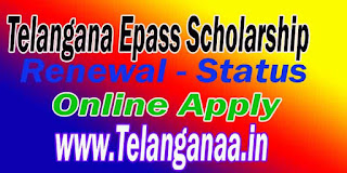 TS Telangana ePass Scholarship Application Status for Prematric Scholarship Status
