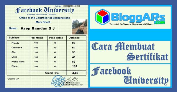 Cara Membuat Sertifikat Facebook University Supaya Kekinian