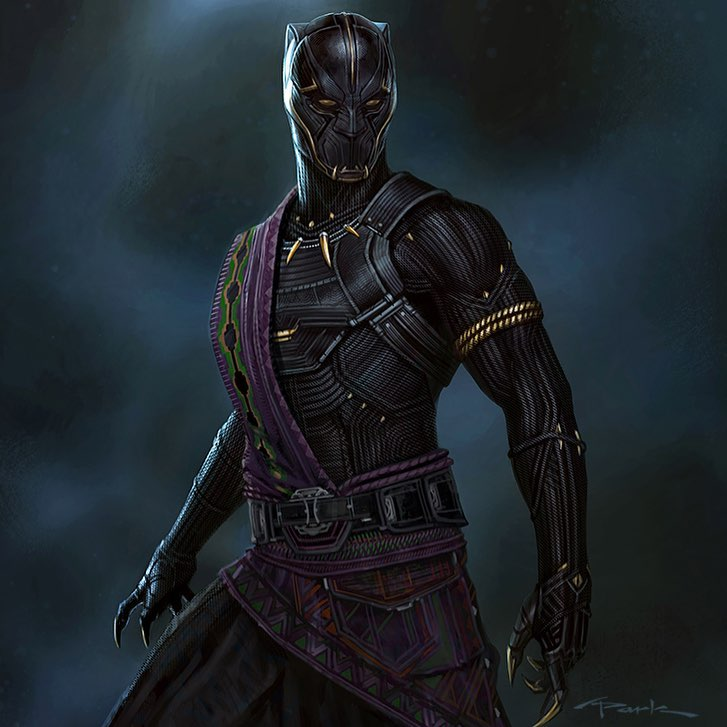 Amazing Black Panther (2018) Concept Art By Andy Park ...