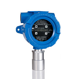 CO2 gas detector for industrial safety