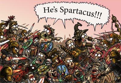 Meme de humor sobre Espartaco