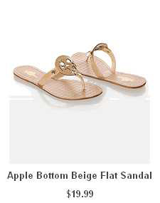 Apple Bottom Beige Flat Sandal