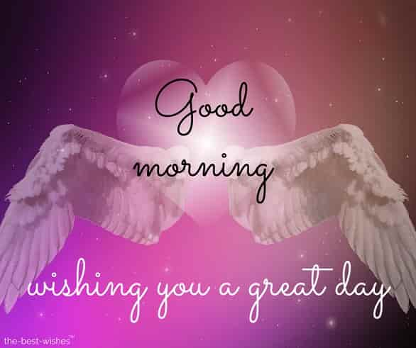 angel wings images with wishing you a great day