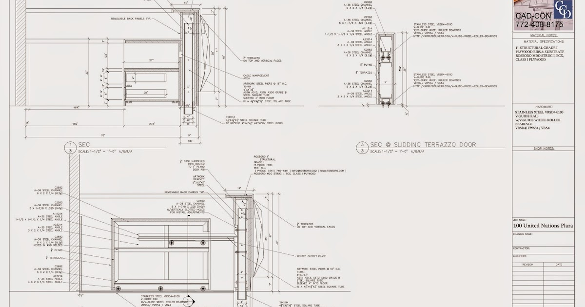Millwork Shop Drawings: Millwork Shop Drawings Call Cad