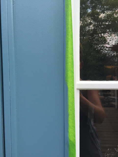 painting a door with glass