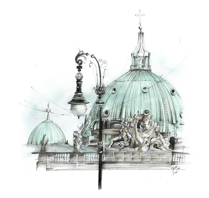01-Berlin-Dome-Veevinci-Drawing-Architectural-Buildings-to-Relax-www-designstack-co