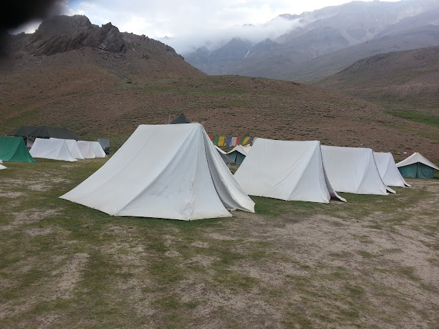 Tents at Chandrataal - Our stay